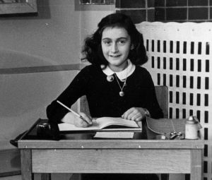 Anne Frank in 1940, public domain on Wikimedia Commons