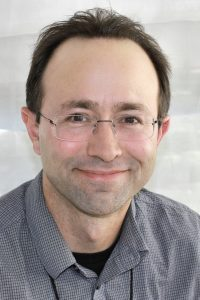 Nick Sousanis in 2015, by Larry D. Moore, licensed CC BY-SA 4.0 on Wikimedia Commons.