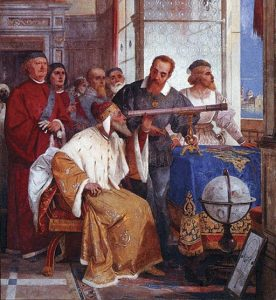 Bertini fresco of Galileo & Doge of Venice, public domain on Wikimedia Commons