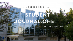 Enjoy this years Student Journal: ONE