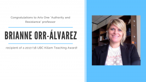 Dr. Brianne Orr-Álvarez receives a Killam!!