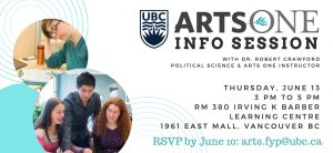 Arts One Info Session