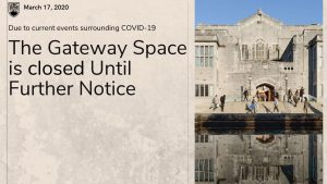 Gateway Space Closed Until Further Notice