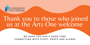 Arts One Welcome