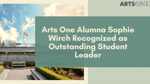 Congrats to A1 Alumna For Being Recognized as Outstanding Student Leader